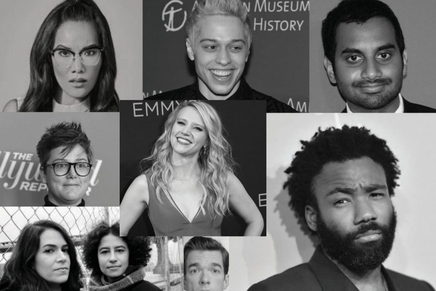 Comedians+like+those+pictured+above+are+changing+the+landscape+of+comedy+in+their+own+unique+ways.+%28Clockwise+from+top+left%3A+Ali+Wong%2C+Pete+Davidson%2C+Aziz+Ansari%2C+Donald+Glover%2C+John+Mulaney%2C+Ilana+Glazer%2C+Abbi+Jacobson%2C+Hannah+Gadsby+and+Kate+McKinnon.%29