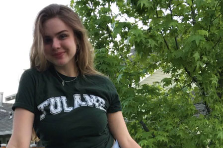 Before heading off to Tulane, the author made one last trip to the Hill to join her classmates for the senior car parade.