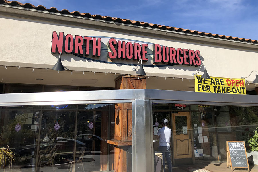 North Shore Burgers has stayed up and running throughout the pandemic. They have made sure everything aligns with the CDC guidelines and have made ordering from the restaurant simple and safe.