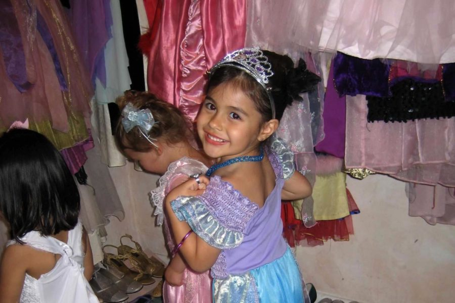 Carisa Joyner '21 played dress-up at a princess-themed party for her friend's third birthday in 2006.