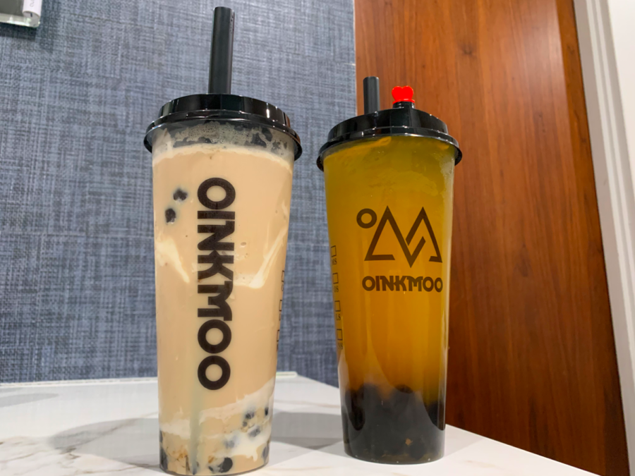 When Gabi Miller '21 and her boyfriend Jack Modrzejewski get boba, they often get brown sugar milk tea (left) and mango green tea (right).